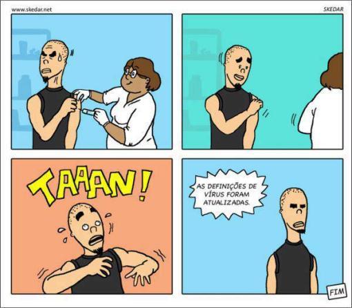Tirinhas engraçada: As definições de vírus foram atualizadas
